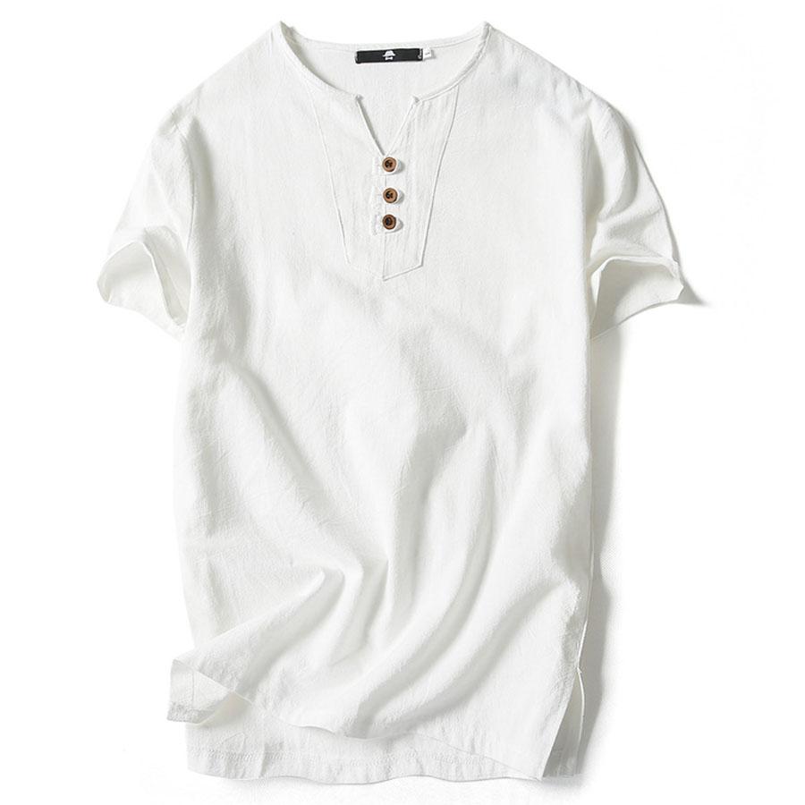 質感木扣.日系亞麻短袖,,,01013503,質感木扣.日系亞麻短袖,