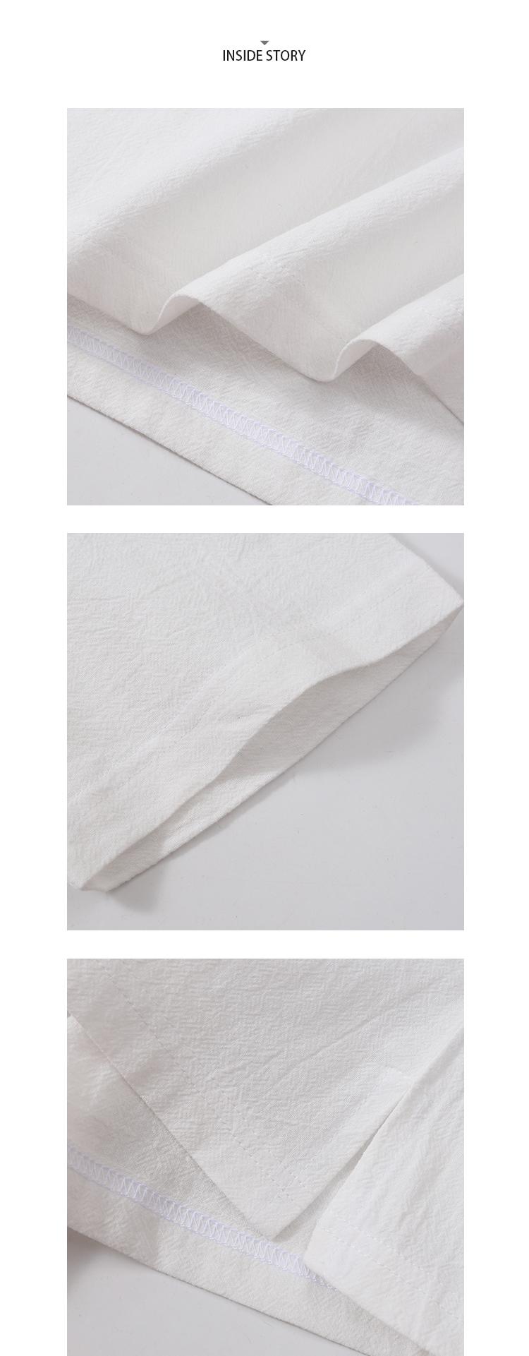 質感木扣.日系亞麻短袖T恤