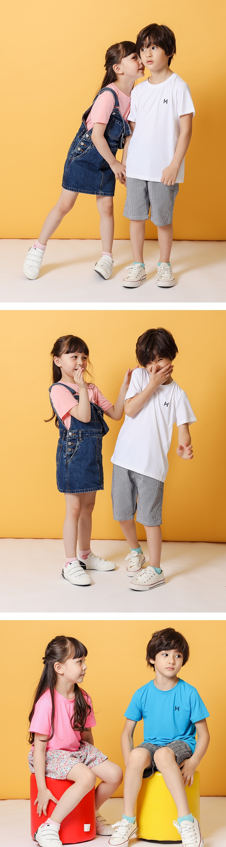 【童】急凍T 超彈瞬涼降溫機能短袖T恤