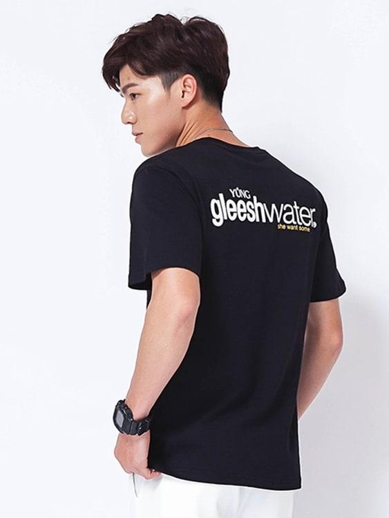 韓系簡約英字休閒短袖T恤,,,01013674,韓系簡約英字休閒短袖T恤,