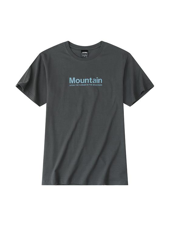 美式戶外山峰印花短袖T恤,,,01013676,美式戶外山峰印花短袖T恤,