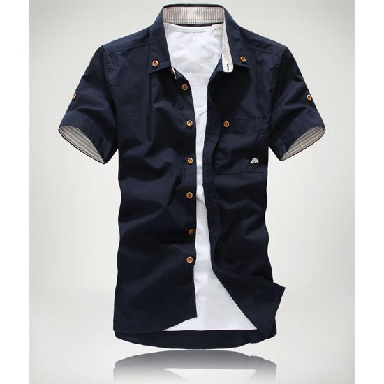 韓式時尚作風.可反折橫紋袖.型男短袖襯衫,,,01030318,韓式時尚作風.可反折橫紋袖.型男短袖襯衫,
