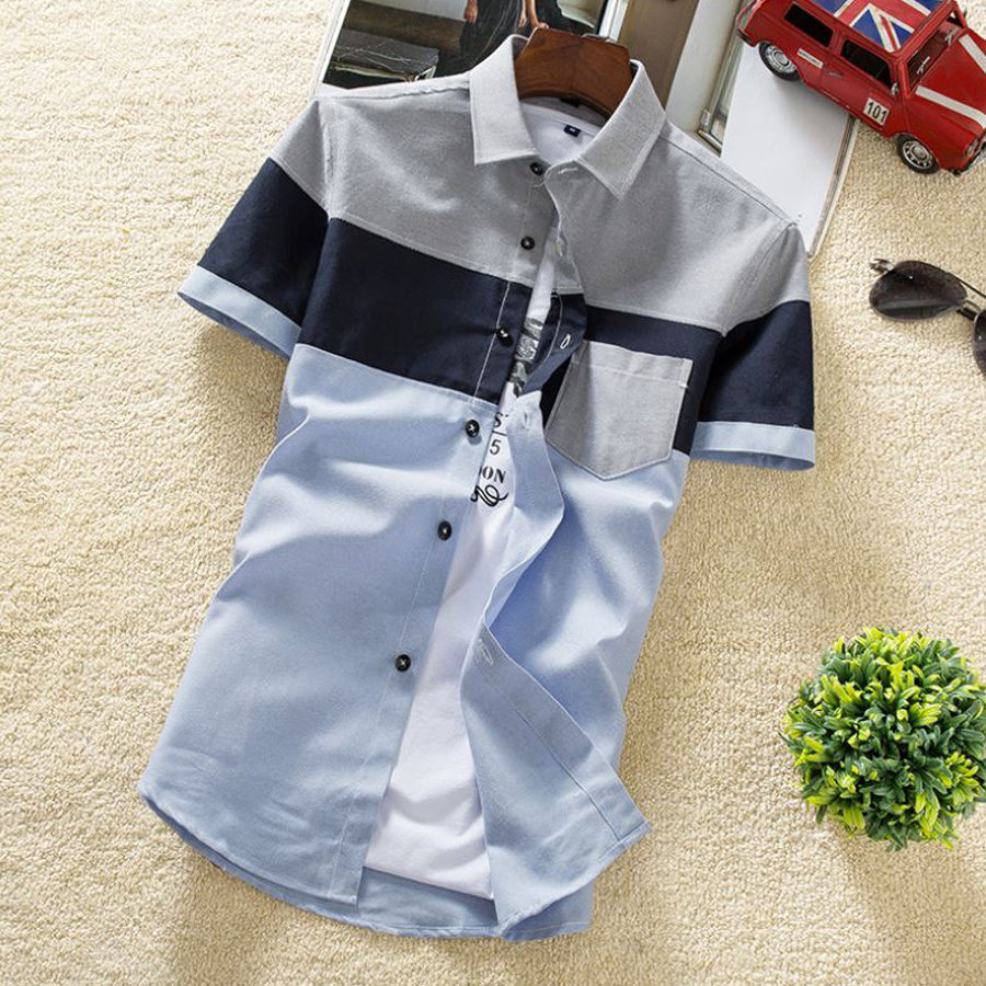 雅痞渡假風格.撞色顯色縫線短衫,,,01030607,雅痞渡假風格.撞色顯色縫線短衫,