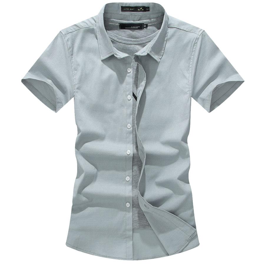 夏日舒適穿搭.棉麻素面短袖襯衫,,,01030609,夏日舒適穿搭.棉麻素面短袖襯衫,