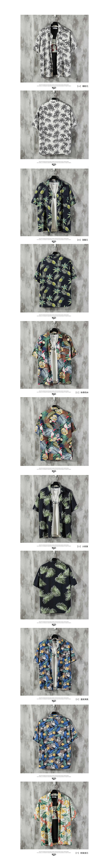 夏日休閒單品.熱帶風格滿版短襯衫