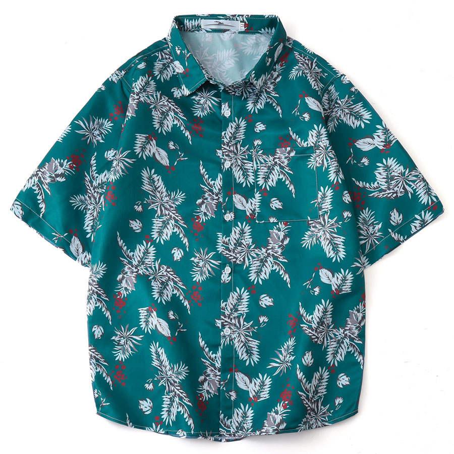 復古針葉 夏威夷短袖襯衫,,,01030670,復古針葉夏威夷短袖襯衫,