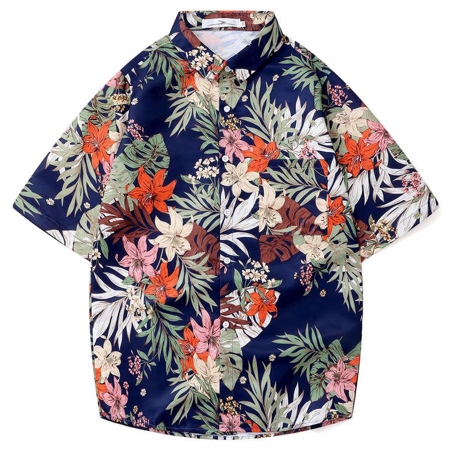 熱帶花卉 夏威夷短袖襯衫,,,01030676,熱帶花卉夏威夷短袖襯衫,