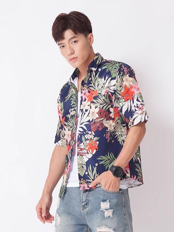 熱帶花卉 夏威夷短袖襯衫