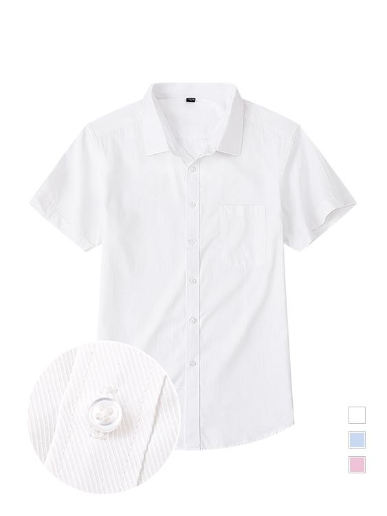 抗皺挺版 商務修身短袖襯衫
