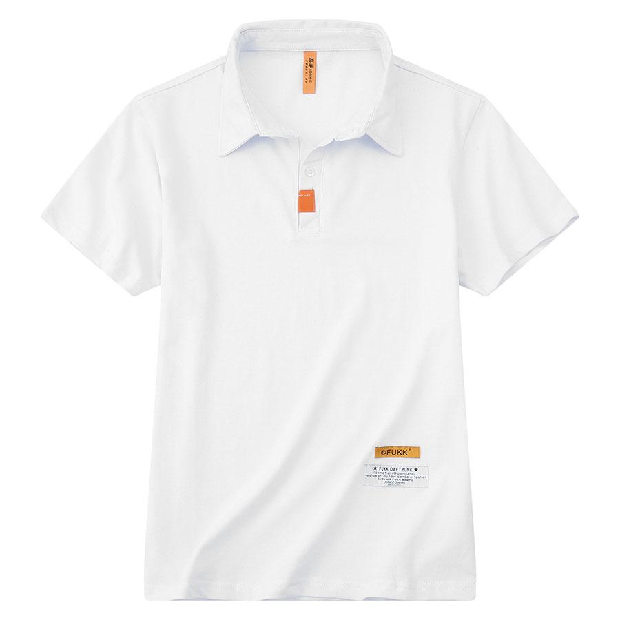 活力橘標 個性短袖POLO衫,,,01040167,活力橘標個性短袖POLO衫,