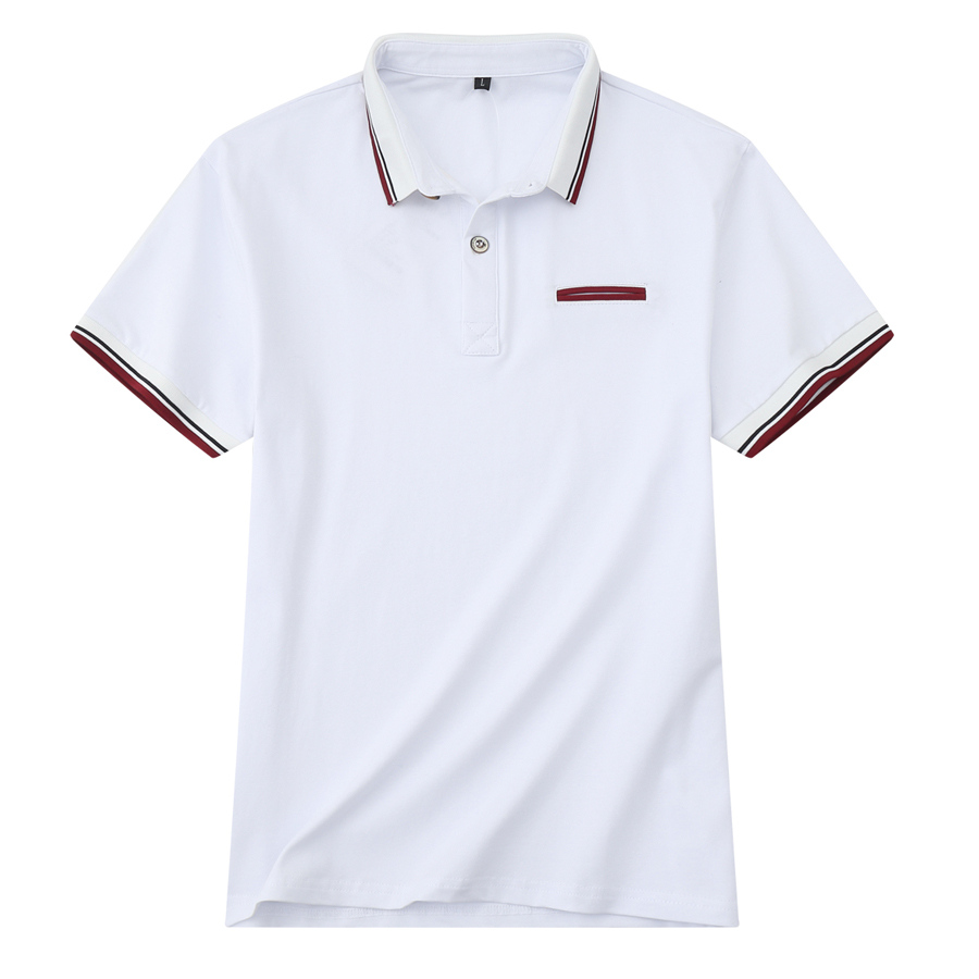 撞色條紋修身短袖POLO衫,,,01040168,撞色條紋修身短袖POLO衫,