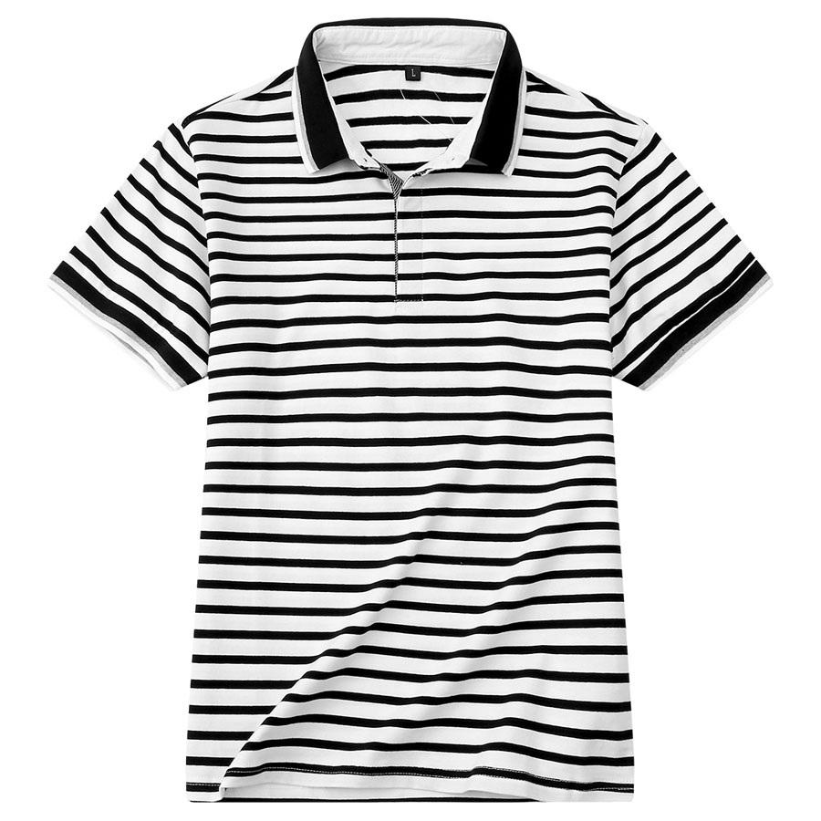 休閒條紋修身短袖POLO衫,,,01040169,休閒條紋修身短袖POLO衫,
