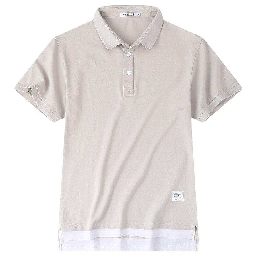 純色簡約假兩件.短袖POLO衫,,,01040173,純色簡約假兩件.短袖POLO衫,