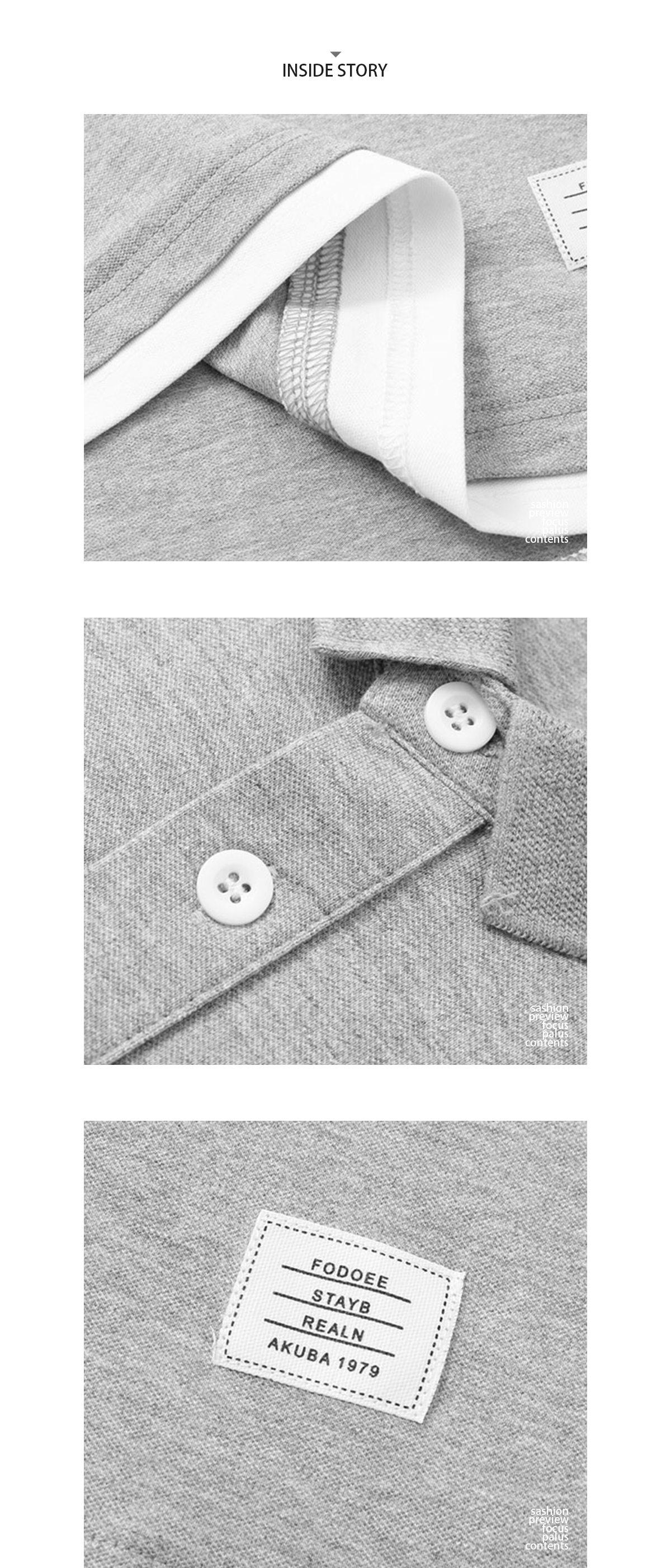 純色簡約假兩件.短袖POLO衫