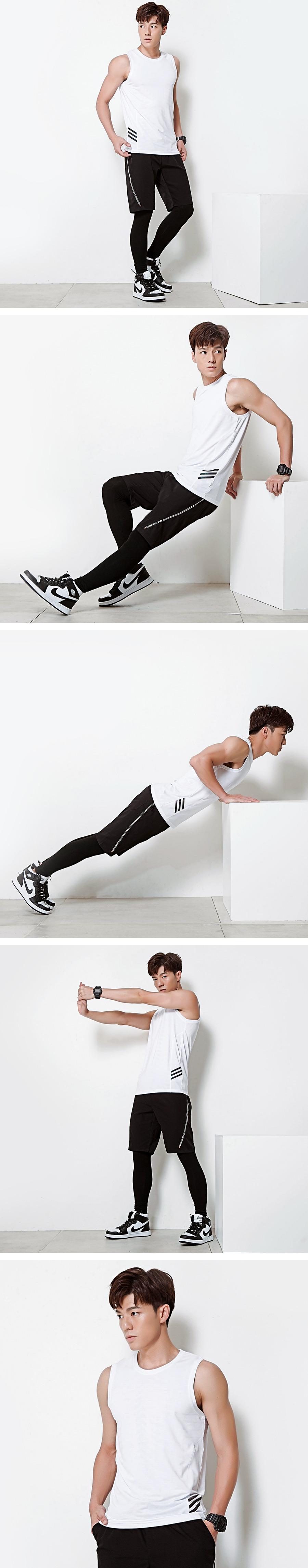 側邊三線舒適運動背心