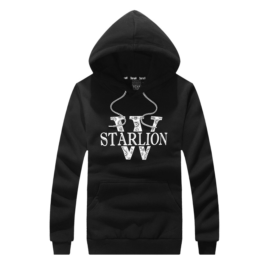 STARLION.潮牌設計刷棉帽T,,,01120418,STARLION.潮牌設計刷棉帽T,