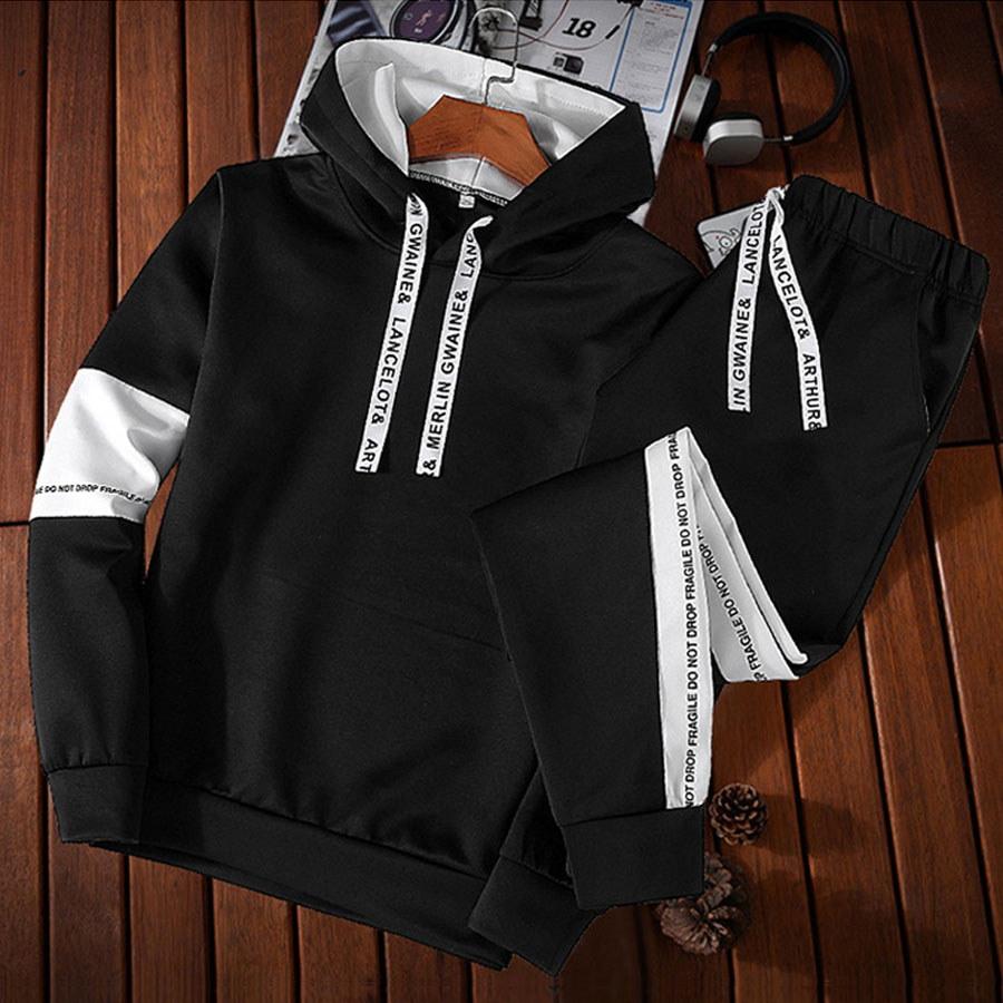 撞色設計.織帶抽繩連帽套裝,,,01120503,撞色設計.織帶抽繩連帽套裝,