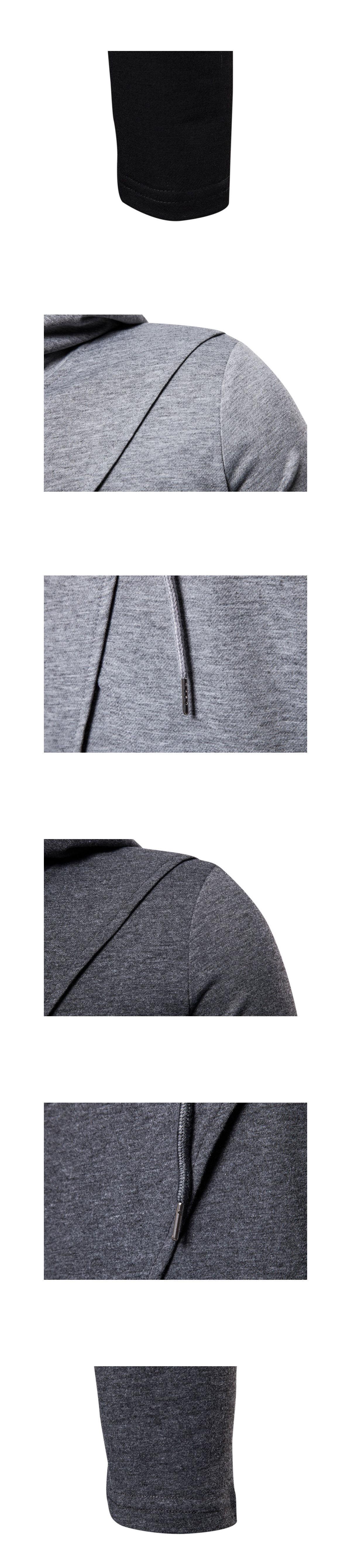 闇黑刺客風格.不規則設計連帽長T