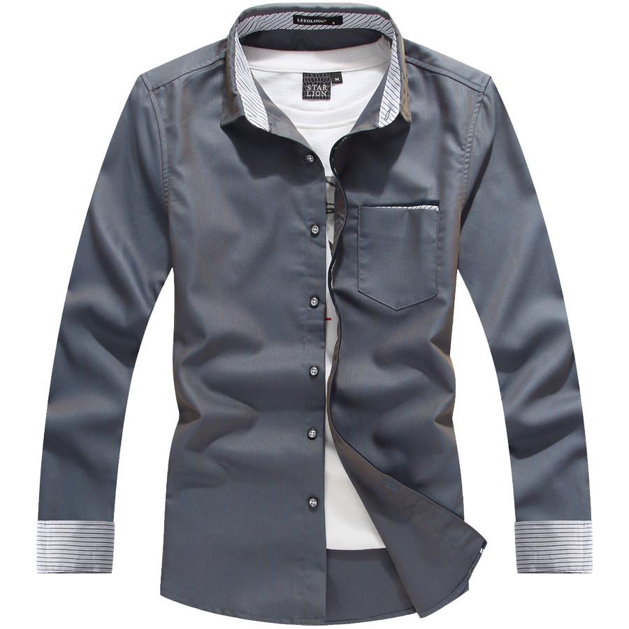 微光變色單品.可反摺袖滾邊長袖襯衫,,,01130527,微光變色單品.可反摺袖滾邊長袖襯衫,