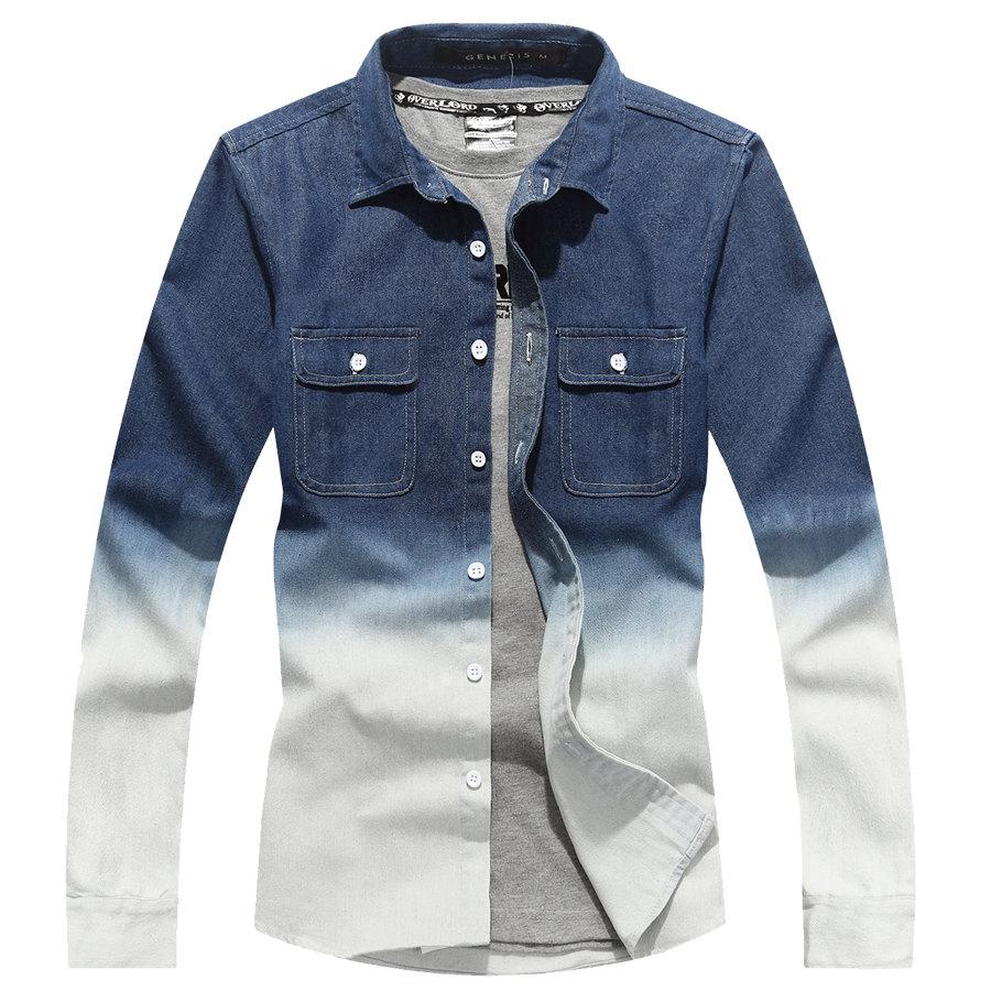 超好看單品.漸層設計牛仔長衫,,,01130528,超好看單品.漸層設計牛仔長衫,