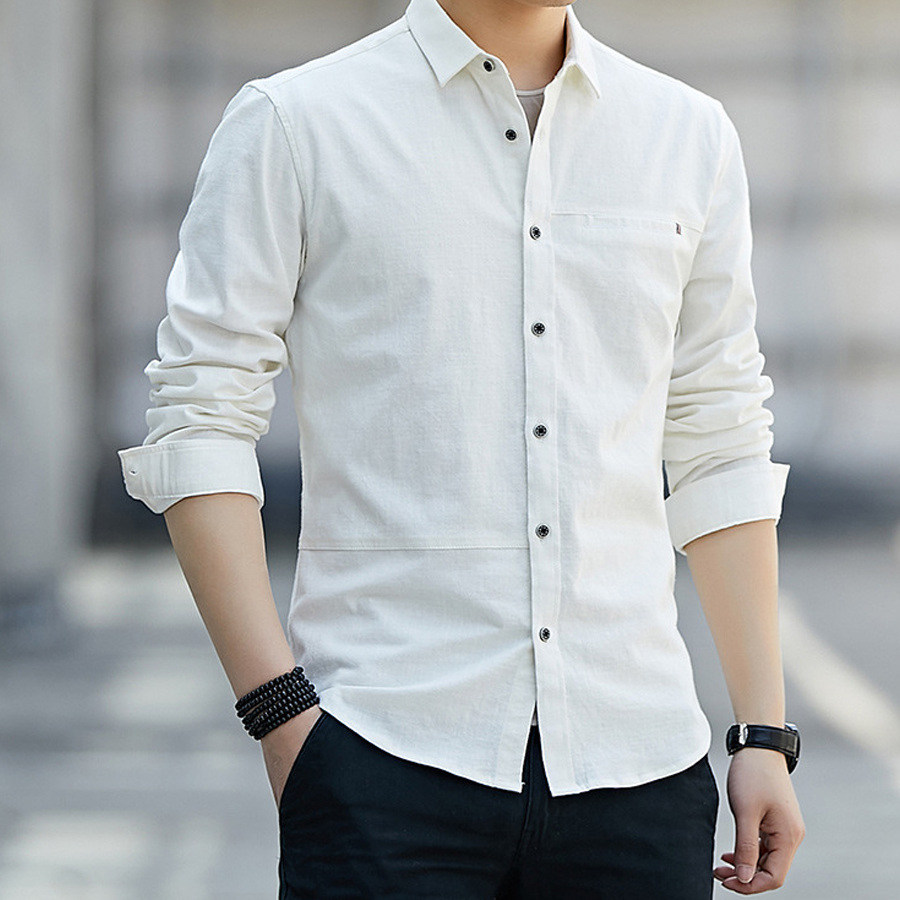 簡約一字口袋.抗皺親膚長袖襯衫,,,01130624,簡約一字口袋.抗皺親膚長袖襯衫,
