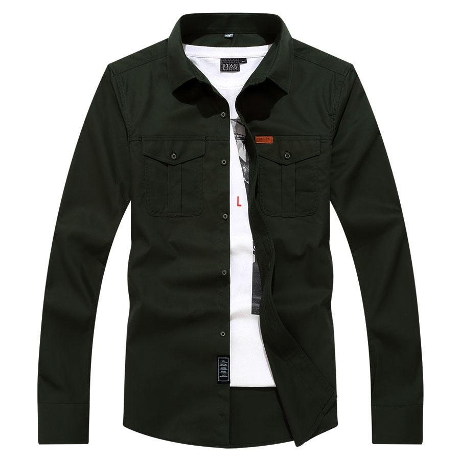 率性翻領 皮標長袖襯衫,,,01130664,率性翻領皮標長袖襯衫,