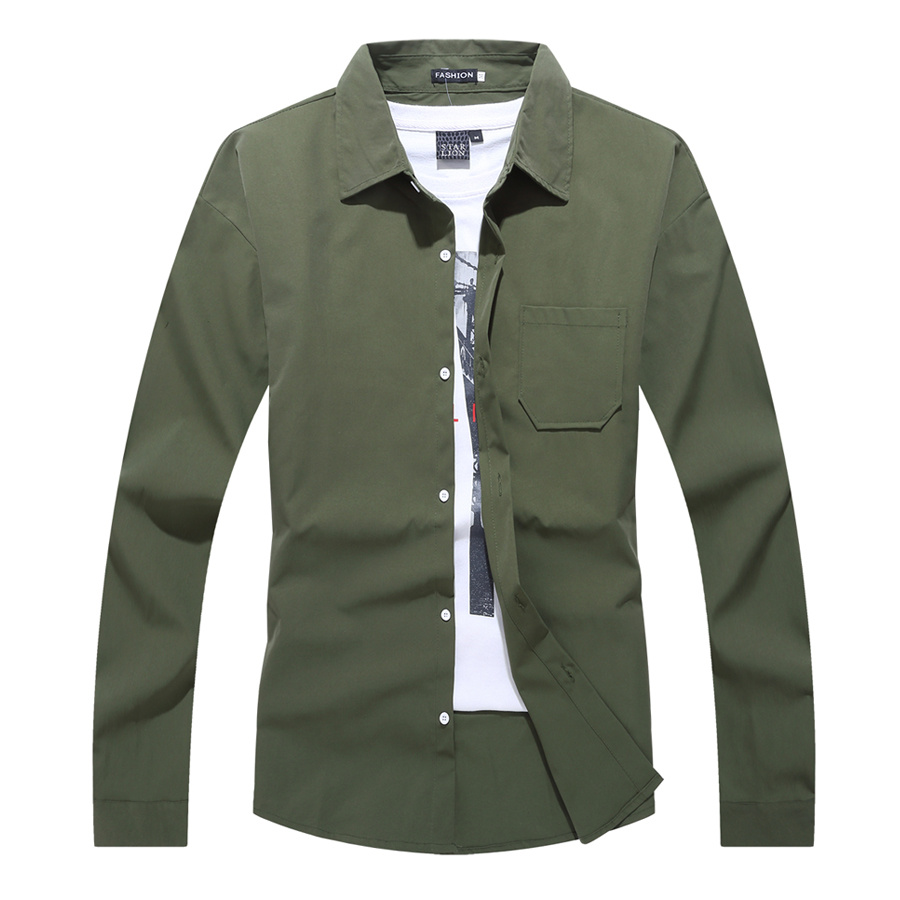 實穿百搭純色長袖襯衫,,,01130665,實穿百搭純色長袖襯衫,