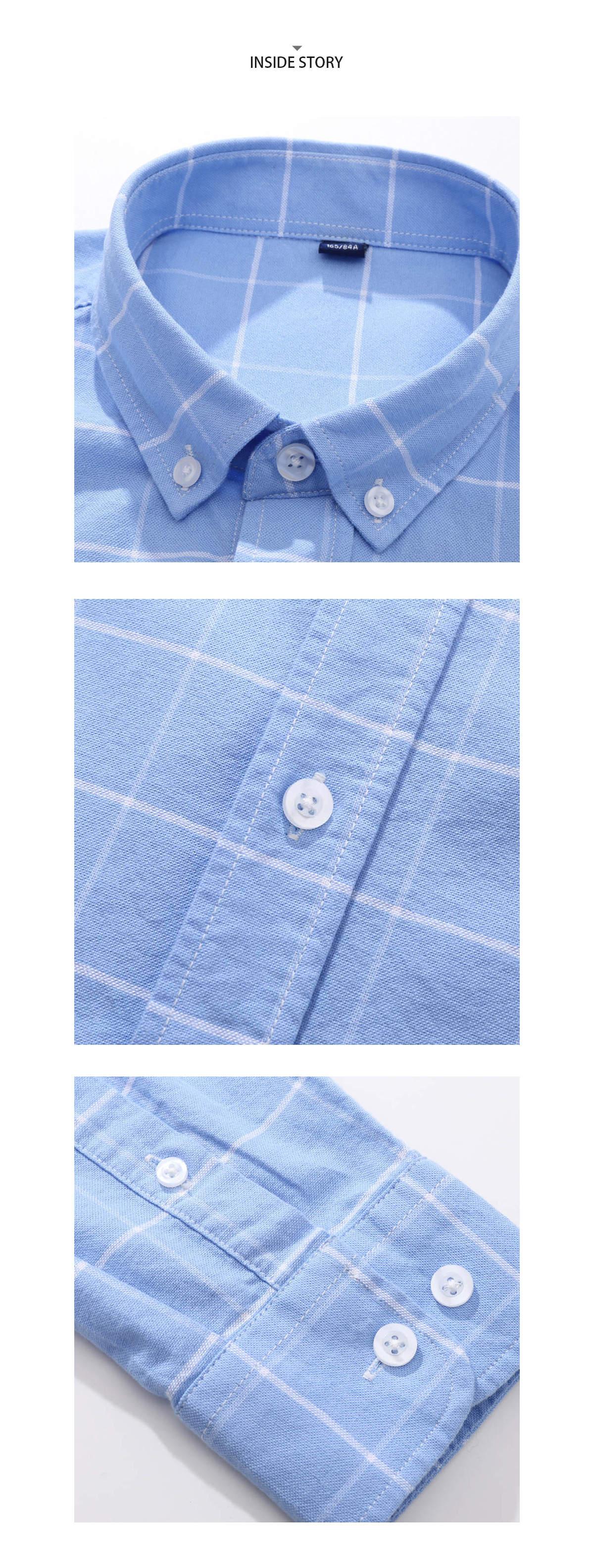 簡約百搭大方格長袖襯衫