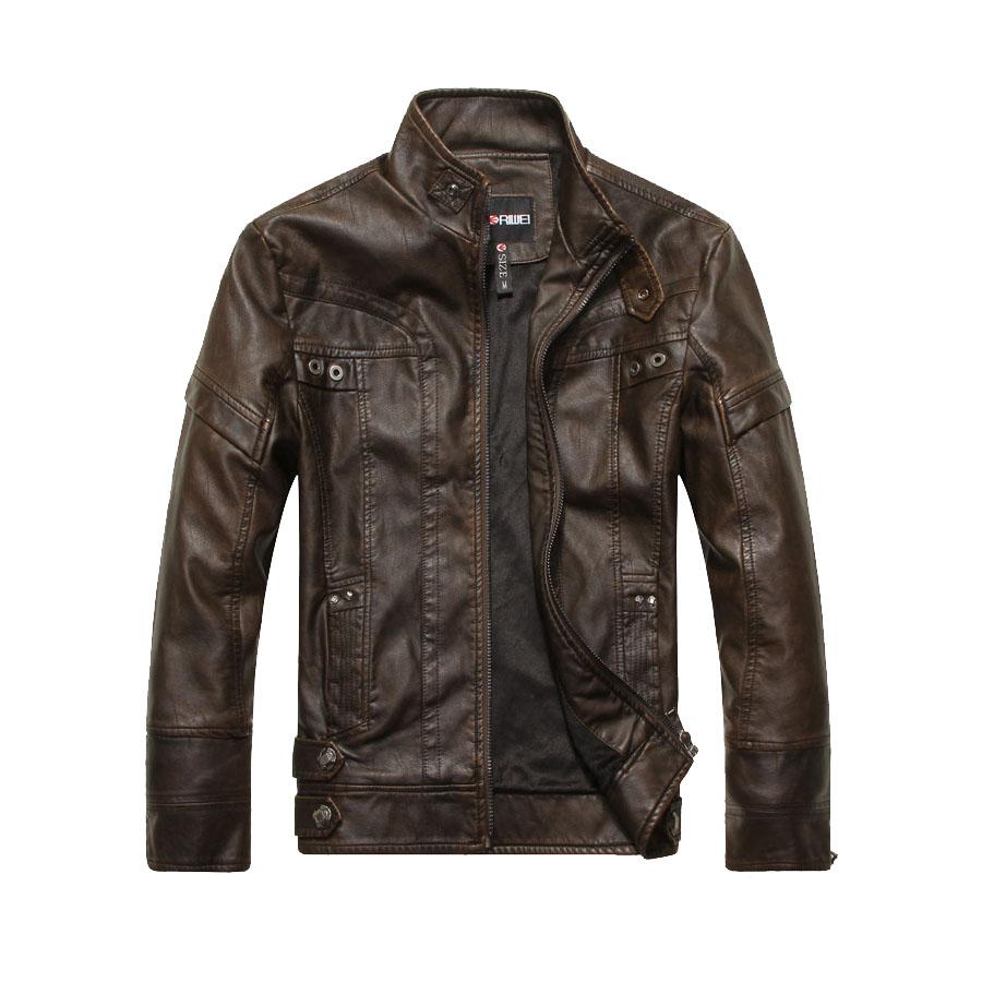 騎士風格單品.內短絨立領設計水洗皮外套,,,02010081,騎士風格單品.內短絨立領設計水洗皮外套,