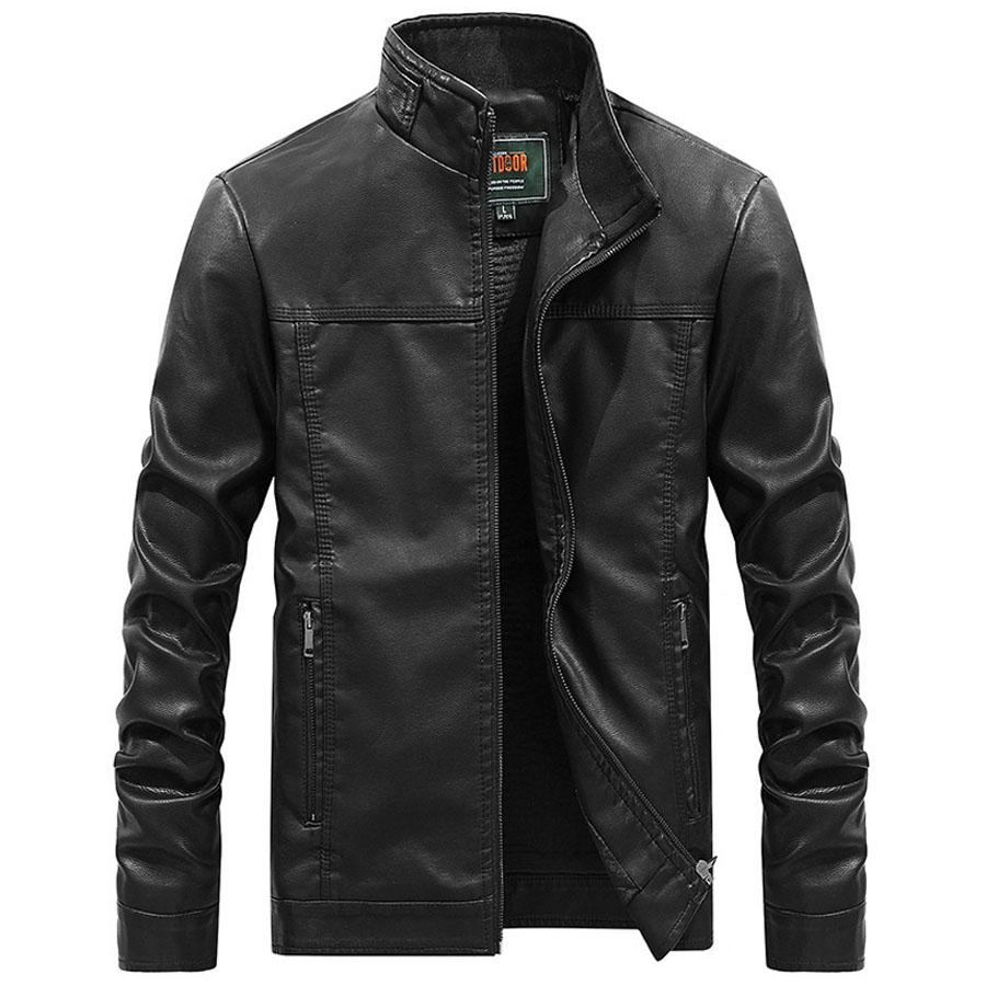 騎士風格單品.內加絨立領皮衣外套,,,02010087,騎士風格單品.內加絨立領皮衣外套,