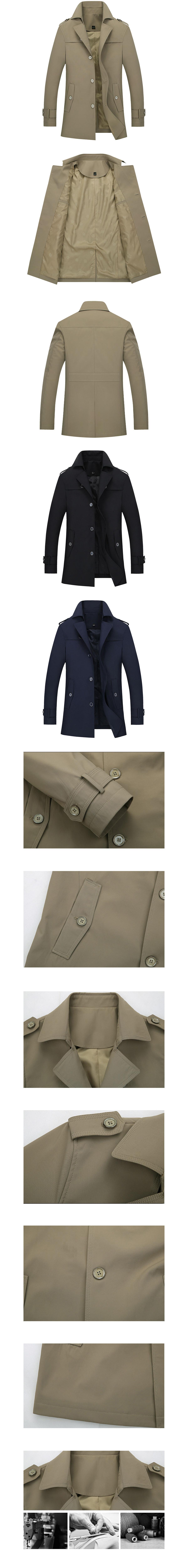 簡約大器紳士單品.大翻領風衣外套