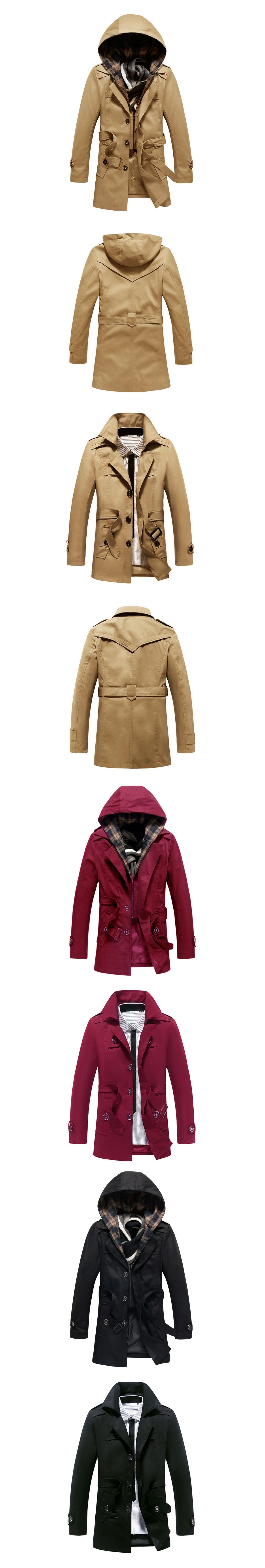 時尚專櫃單品.假兩件式大衣外套.兩種穿法