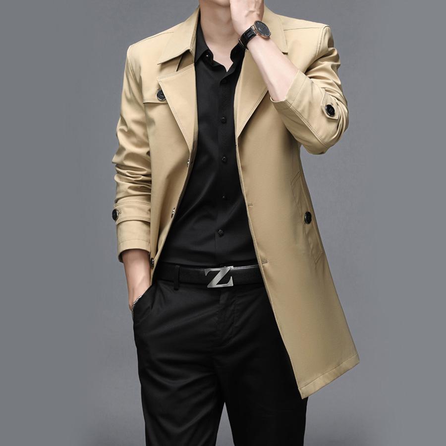 經典簡約.加絨中長版風衣外套,,,02020108,經典簡約.加絨中長版風衣外套,