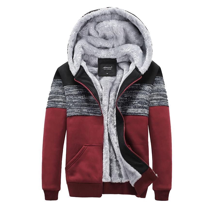 防寒級單品.針織印刷拼接厚絨連帽外套,,,02050372,防寒級單品.針織印刷拼接厚絨連帽外套,