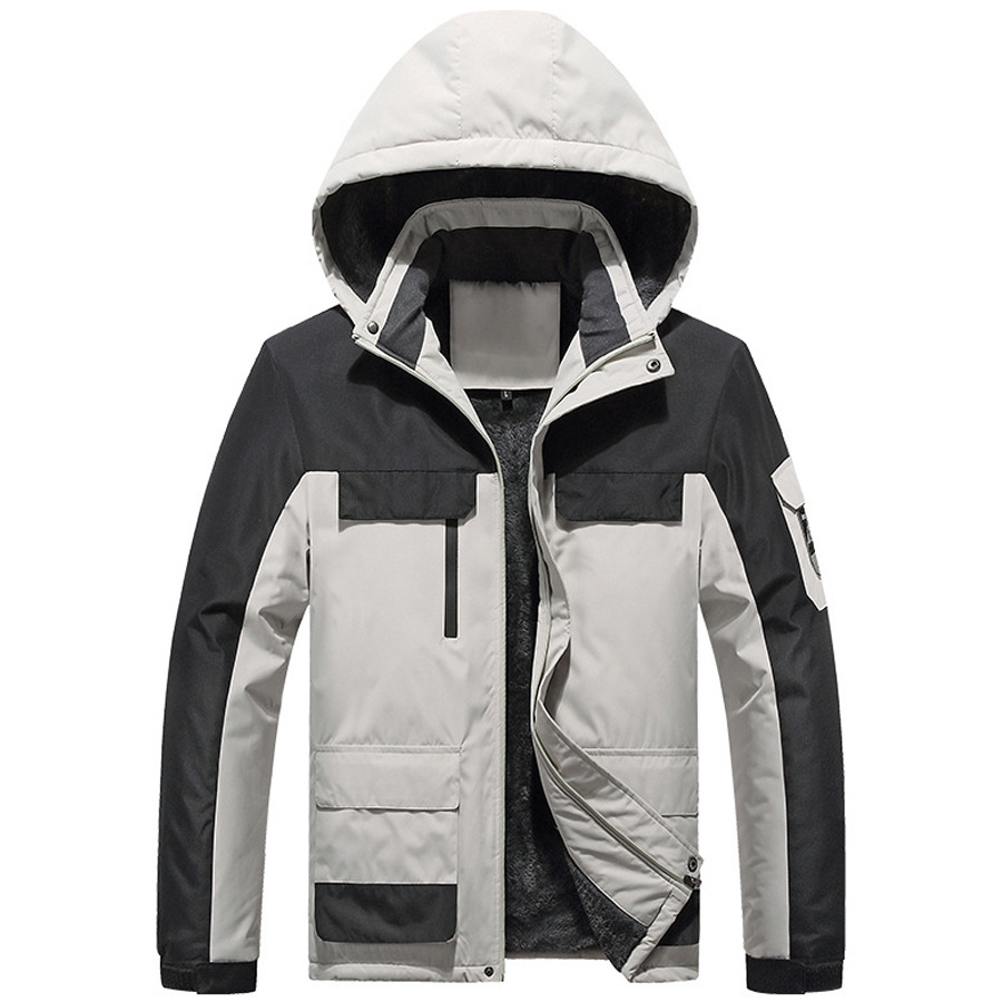 防風防潑水.拼接刷毛衝鋒外套