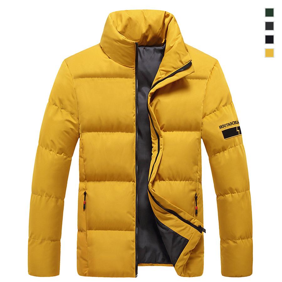 閃電布標.簡約立領鋪棉外套.有大碼