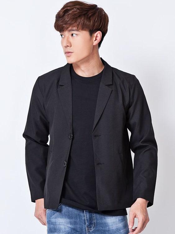 日韓時尚休閒薄款西裝外套