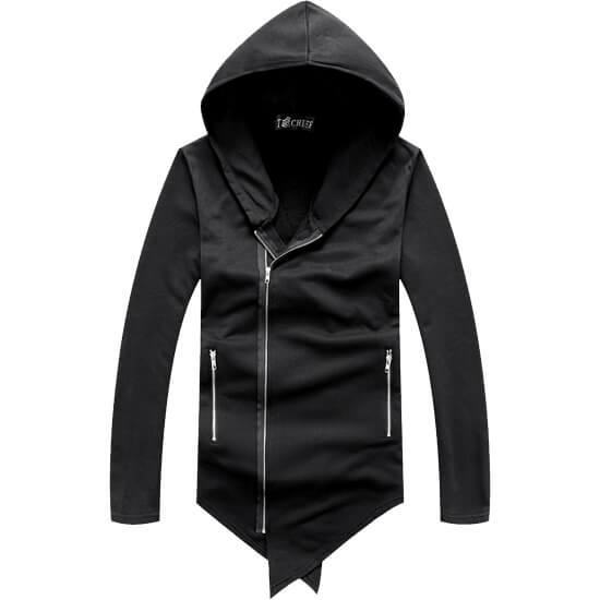 暗黑風格款‧特殊剪裁長版外套,,,02070153,暗黑風格款‧特殊剪裁長版外套,