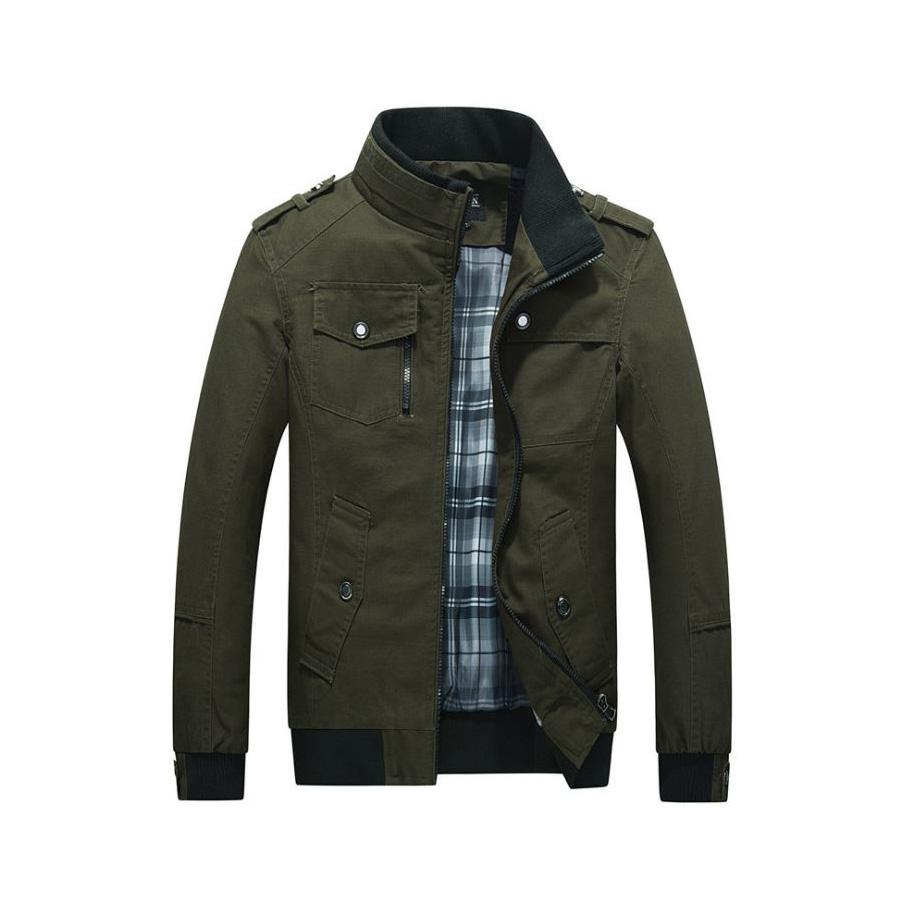 休閒風格單品.羅紋袖設計立領夾克外套,,,02070622,休閒風格單品.羅紋袖設計立領夾克外套,