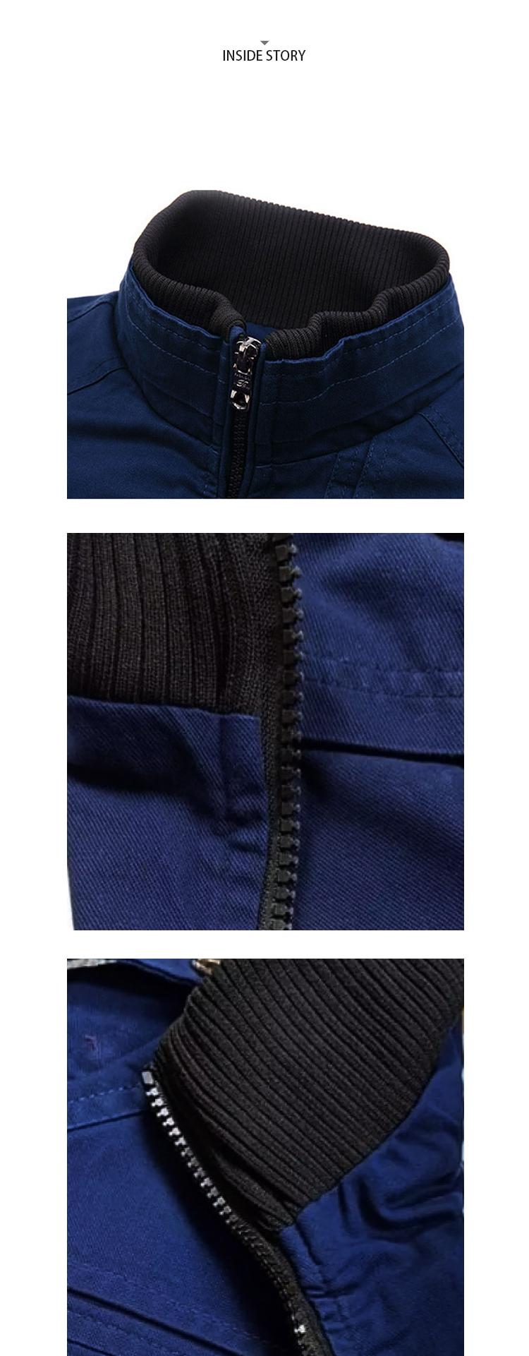 騎士風格單品.拉鍊設計立領夾克