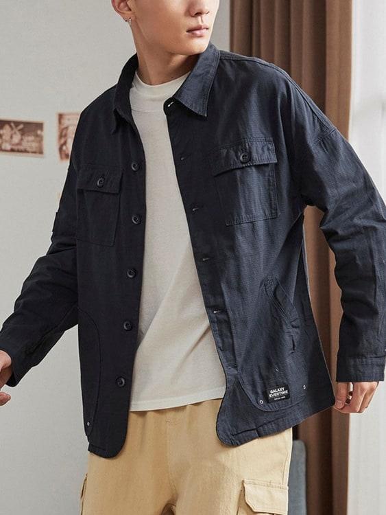 日常都帥氣.薄款多口袋工裝夾克