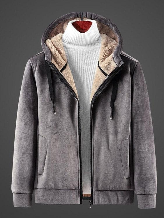 極致保暖.羊羔絨連帽外套