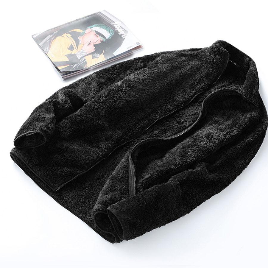 暖暖珊瑚絨.素面立領外套,,,02070741,暖暖珊瑚絨.素面立領外套,