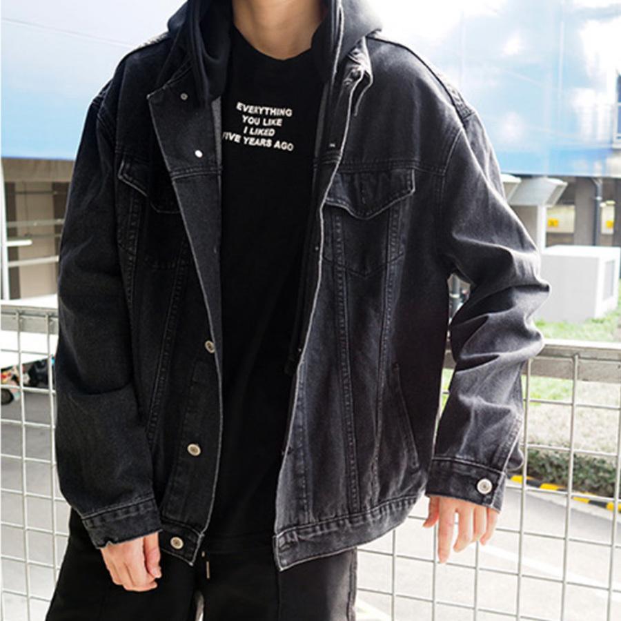 韓系風格單品.連帽落肩牛仔外套,,,02100089,韓系風格單品.連帽落肩牛仔外套,