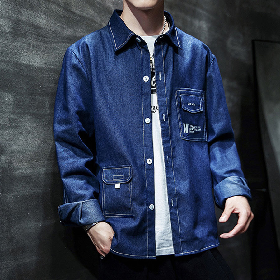 工裝風格單品.帥氣撞色車線丹寧外套,,,02100095,工裝風格單品.帥氣撞色車線丹寧外套,