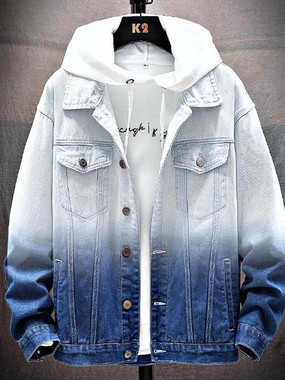 青春活力.韓版漸層牛仔外套