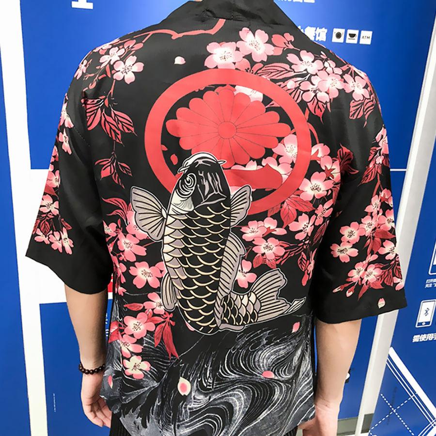 【季末出清】濃濃東洋風單品.櫻花錦鯉罩衫,,,02120070,【季末出清】濃濃東洋風單品.櫻花錦鯉罩衫,