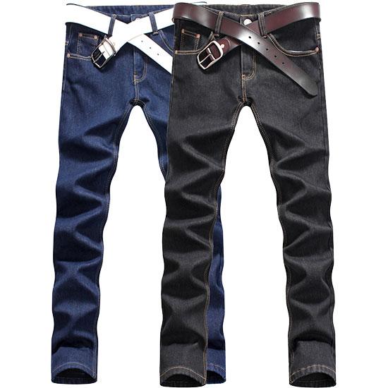 經典必備.素色深單寧小皮革內牛仔刷毛褲,,,03010427,經典必備.素色深單寧小皮革內牛仔刷毛褲,