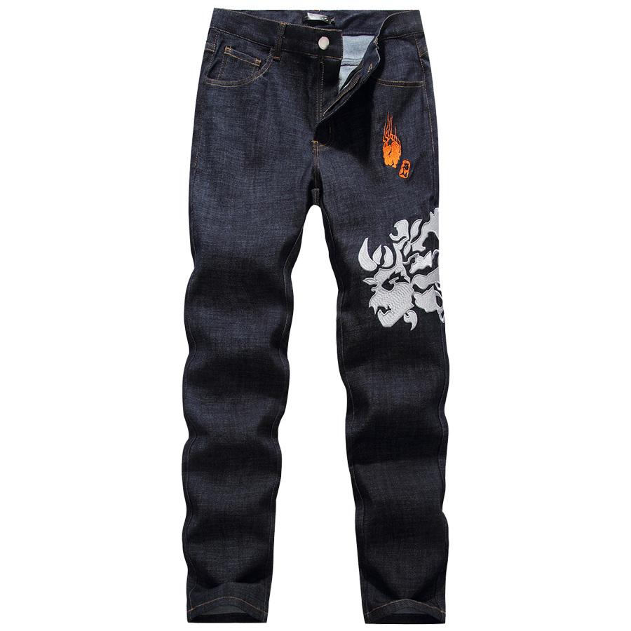 鬼火雷神.立體電繡.直筒牛仔褲,,,03010574,鬼火雷神.立體電繡.直筒牛仔褲,