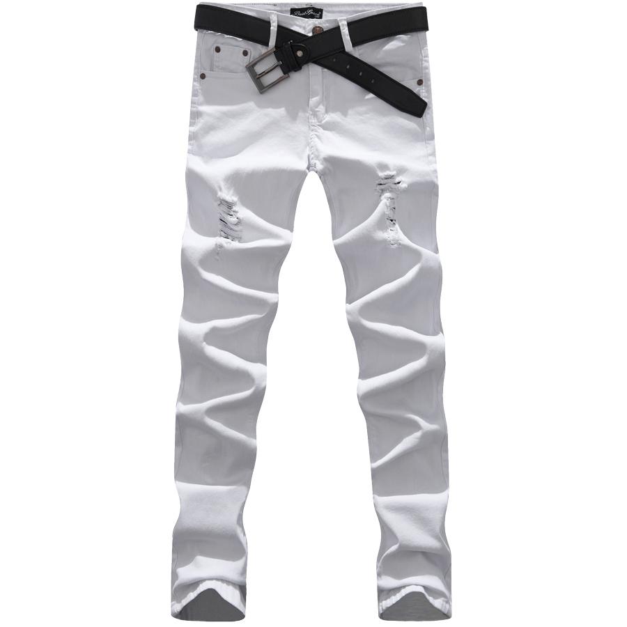 基本才叫經典.單色刷破高彈力牛仔褲,,,03010576,基本才叫經典.單色刷破高彈力牛仔褲,